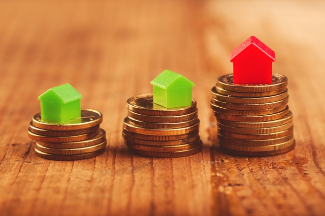 Real estate mortgage concept